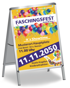 Faschingsfest Flying Balloons Gelb