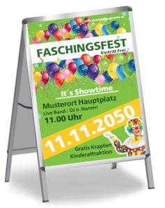 Faschingsfest Flying Balloons Gruen