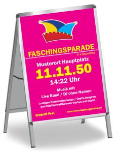 Faschingsfest Karneval Hut Pink