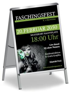 Faschingsfest Miss Carneval Gruen