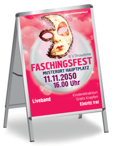 Faschingsfest Venezianische Maske Rosa