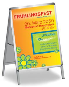 Fruehlingsfest Blumenmeer Orange
