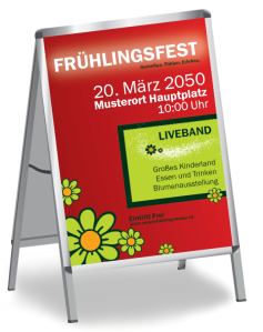Fruehlingsfest Blumenmeer Rot