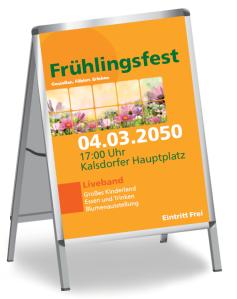 Fruehlingsfest Natur Orange