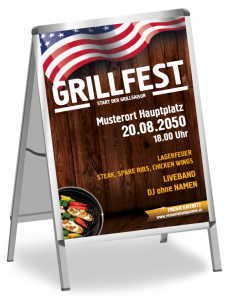 Grillfest American Barbecue Gelb