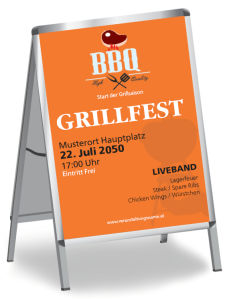 Grillfest Barbecue Party Orange