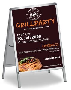 Grillfest Steak Braun