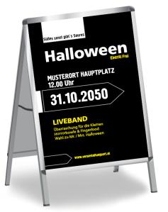 Halloween Party Simple Schwarz