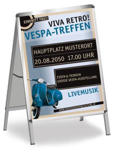 Motorsportevent Retro Vespatreffen Blau