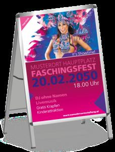 Plakat Fasching Samba A1 Pink