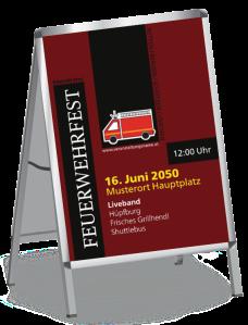 Plakat Feuerwehrfest Auto Braun A0