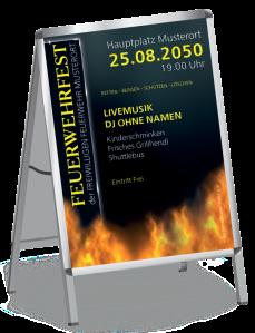 Plakat Feuerwehrfest Fire Dept Gelb DIN A0