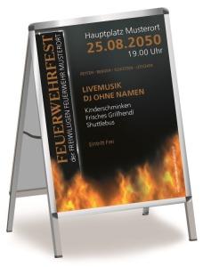 Plakat Feuerwehrfest Fire Dept Orange DIN A0