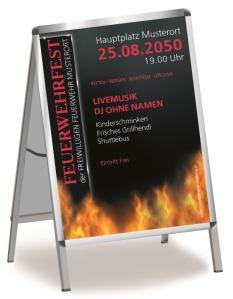 Plakat Feuerwehrfest Fire Dept Rot DIN A0