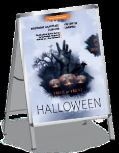 Plakat Halloween Hand A0 Blau