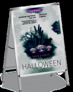 Plakat Halloween Hand A0 Gruen