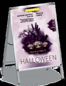 Plakat Halloween Hand A0 Violett