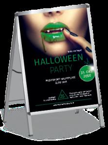 plakat-halloween-lips-gruen-a1