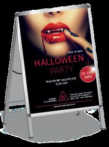 plakat-halloween-lips-rot-a1
