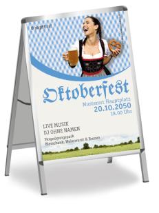 Plakat Kornfeld Blau