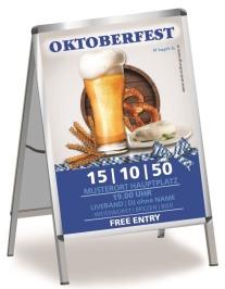 Plakat Oktoberfest Craft Beer A0 Blau
