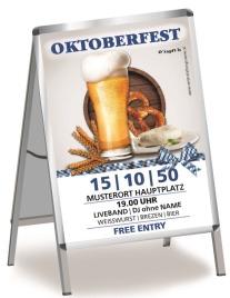 Plakat Oktoberfest Craft Beer A0 Weiss