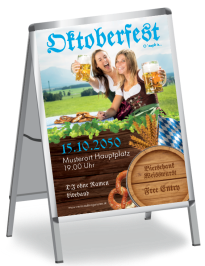 Plakat Oktoberfest Damen A0 Blau