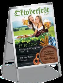 Plakat Oktoberfest Damen A0 Gruen
