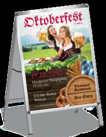 Plakat Oktoberfest Damen A0 Rot