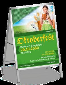 Plakat Oktoberfest Dirndl A1 Gruen