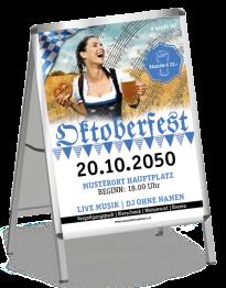 Plakat Oktoberfest Noten A0 Blau