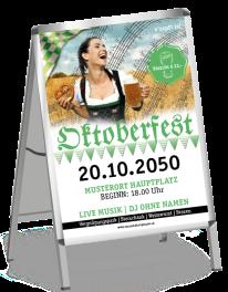 Plakat Oktoberfest Noten A0 Grün