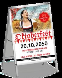 Plakat Oktoberfest Noten A0 Rot