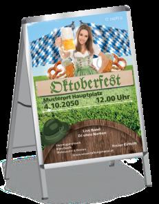 Plakat Oktoberfest Tracht A1 Gruen