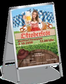 Plakat Oktoberfest Tracht A1 Rot