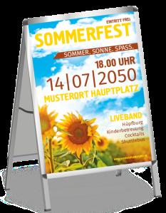 Plakat Sommerfest Sonnenblume Gelb A0