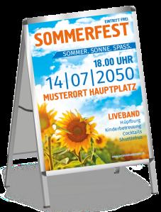 Plakat Sommerfest Sonnenblume Orange A0