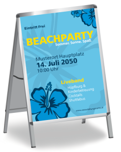 Sommerfest Hawaii Feeling Blau