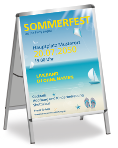 Sommerfest Ostseeküste Blau