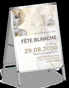 Plakat Fete Blanche Eiskoenigin A1 Gold