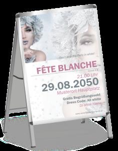 Plakat Fete Blanche Eiskoenigin A1 Silber