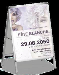 Plakat Fete Blanche Eiskoenigin A1 Violett