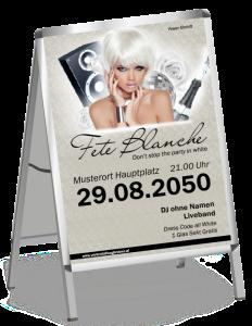 Plakat Fete Blanche Floral A1 Silber