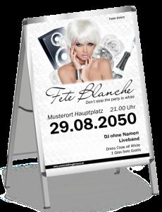 Plakat Fete Blanche Floral A1 Weiss