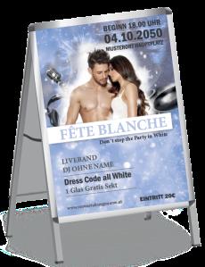 Plakat Fete Blanche Paar Blau A1