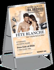 Plakat Fete Blanche Paar Orange A1