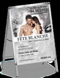 Plakat Fete Blanche Paar Silber A1