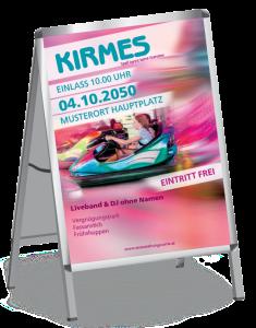 Plakat Kirmes Autodrom A1 Blau