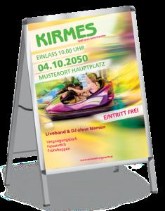 Plakat Kirmes Autodrom A1 Gruen