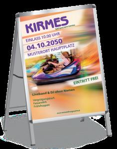 Plakat Kirmes Autodrom A1 Violett